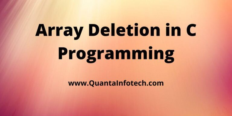 Array Deletion in C Programming