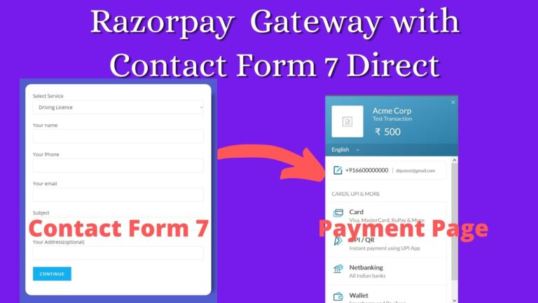 Integrate Razorpay with Contact Form 7 Code