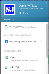 This is Razorpay Payment Page