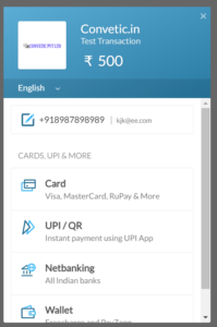 Integrate razorpay payment gatway with contact form 7