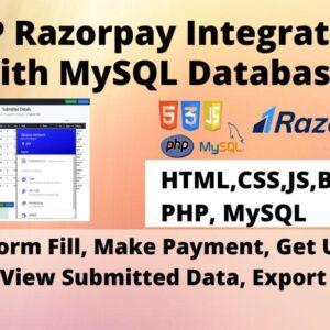 PHP Razorpay Integration with MySQL Database