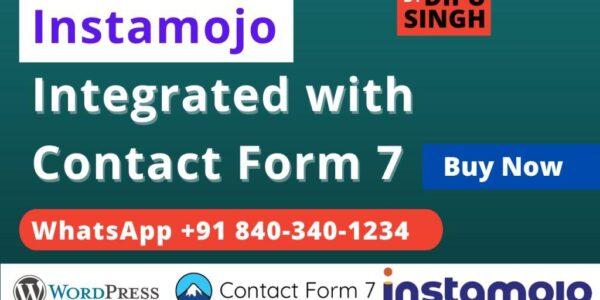 Instamojo Integration with Contact Form 7 WordPress Doc
