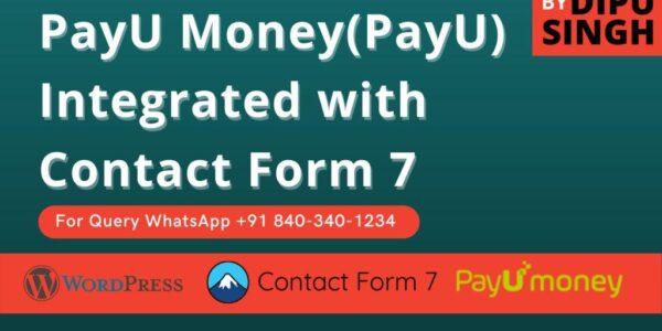 PayU Money Contact Form 7 Documentation
