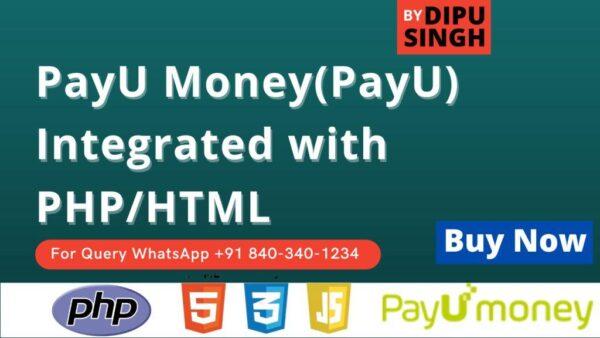 PayU Money(PayU,Biz,Money) Integration with PHP